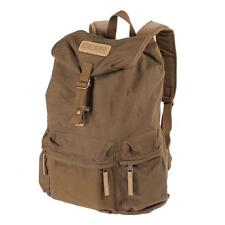 Coffee Vintage Canvas DSLR Camera Case Bag Backpack Travel Hiking Sport Rucksack