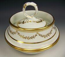 Antique Old Paris Gold Gilt Covered Bowl