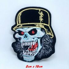 Slayer Skull outlaw MC Biker Embroidered Iron on Sew on Patch #1372