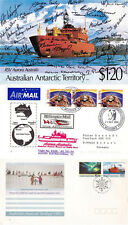 AAT ICEBREAKER SHIP AURORA AUSTRALIS 2 SHIPS CACHED COVERS & MULTI SIGNED PIECE
