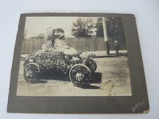 Vintage 1910s or 1920s Photograph - 2 Ladies in a Rose Bowl Flower Covered Car