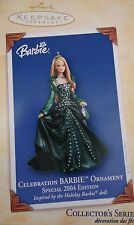 "Hallmark  ""CELEBRATION Barbie""--Special Edition ""2004""  Ornament ""5"" in Series"