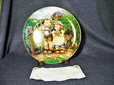 M.J.Hummel Collectors Plate Little Companions Country Crossroads Signed 1990 MIB