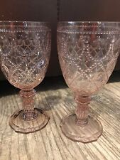Baci Milano Neo Barocco Diamanté Blush Wine Goblets NGWI.DIA05 700P Outdoor