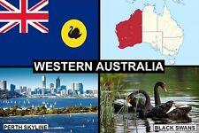 SOUVENIR FRIDGE MAGNET of THE STATE OF WESTERN AUSTRALIA & PERTH
