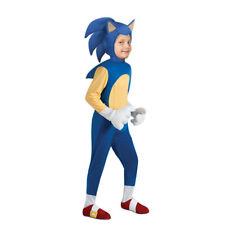 Sonic the Hedgehog Cosplay Game Costume Boys Girls Kids Bodysuit Small