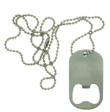 Stainless Steel Bottle Opener Military Army Dog Tag