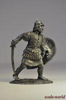 Tin soldier, figure. Byzantine infantryman, 13th century. 54 mm