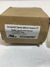 Acusplit Ct Model Acuct H100 200333 200a 333mv Split Core Current Transformer