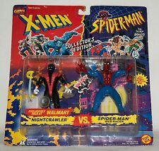 """1994 MARVEL COMICS X-MEN """"NIGHTCRAWLER VS SPIDER-MAN"""" FIGURE 2-PACK EXCLUSIVE"""