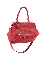 NWT GIVENCHY Pandora Medium Pepe Leather Messenger Crossbody Shoulder Bag Cherry