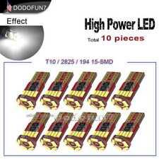 10pc White Canbus Error Free Car T10 15-SMD LED Wedge Light Bulb W5W 194 2825