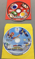 Nintendo Wii Mario Game Lot Mario & Sonic & New Super Mario Bros Tested - F01