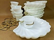 Vintage Appetizer Shell Chip and Dip Set for 8