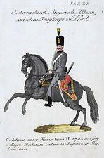 Reilly: Org. altkol. Kupferstich Österreich Uniformen Wurmser. Freikorps; 1796