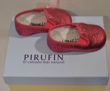 NEW WITH TAGS: PIRUFIN Baby Shoes made in Spain: Size 1 (EU 16) FREE SHIPPING