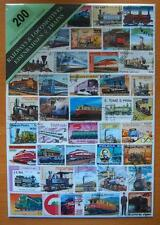 200 DIFFERENT THEMATIC USED MIXED STAMPS-RAILWAYS