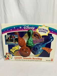 Vintage-NEW~80s Disney Goofy Sounds Bowling Game Mattel Complete in Box-B9