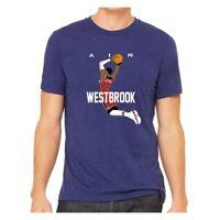"Tie Dye Oklahoma City Thunder Russell Westbrook /""Russellmania/"" jersey T-shirt"
