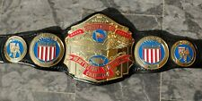 Classic NWA US title 3.2mm thick HD plates with hand tooled leather Deep Etched