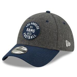 Los Angeles Rams Hat New Era 39Thirty Gray Blue Flex Fit Cap Size L/XL Wool LA