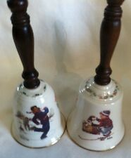 2 Gorham Norman Rockwell Bells 1978 Gay Blades & 1979 A Boy Meets His Dog