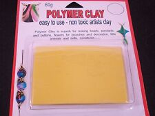 Modelling Polymer Clay Art/craft Oven Bake 60g Yellow Party Fun Postage