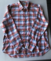 Men's Lucky Brand California Fit Plaid Long Sleeve Shirt Pre-Owned Size XXL