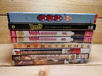 Lot of 8 Anime DVD Movie Series Sets Inuyasha Bloodlad Ninja Nonsense Robotech
