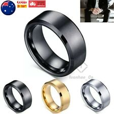 Titanium Stainless Steel Brushed Polished Men Women Wedding Band Mens Ring AUS
