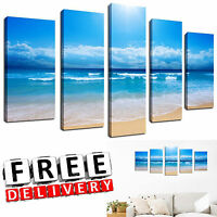 Beach Canvas Wall Art Painting Framed Print Large Hang Modern Hang Home Decor