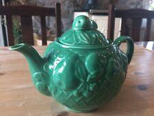 Vintage Wade - Green Fruit Basket Tea Pot - Circa 1950's