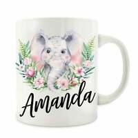 Personalized Elephant Lover Gift Elephant Mug Elephant Coffee Mug Cup
