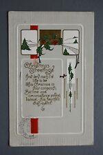 R&L Postcard: Greetings, Christmas Embossed, Great American Design