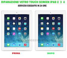 Sostituzione vetro rotto apple ipad 2 ipad 3 ipad 4 riparazione touch screen