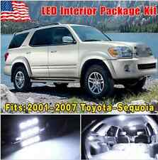 17PCS White LED light SMD Interior Package Deal For 2001-2007 Toyota Sequoia