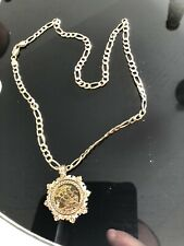 More details for elizabeth ii 2000 half sovereign in 9 carat gold mount on 9 carat gold chain