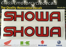 HONDA SHOWA SUSPENSION DECALS X 2 NS CB XBR GL TL CR NX NSR NTV CBR RC