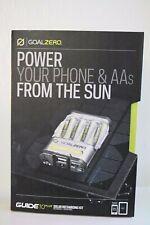 NEW Goal Zero Guide 10 Plus Solar Recharging Kit Nomad 7 Panel + Recharger NIB