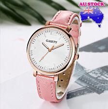 Wholesale Pink Leather Steel White Dial Quartz Watch Women Lady Wrist Watch