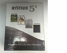 MYSTIQUE 5' Magic Herbal Color Hair Shampoo ( Dark Brown )