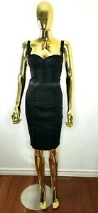 GUESS by Marciano Black Corset Fitted Cocktail Dress Bustier Sz 2 or XS