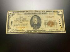 New listing Sulphur Springs, Texas 1929 National Note. Charter 3989.