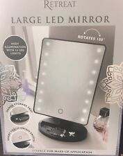 Large Led Mirror with Lights Rotate/convenient/smart/touch with storage tray