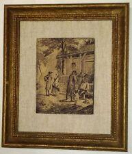 Vintage Artini Masterpiece Engraving #783 Mounted on Linen - Framed