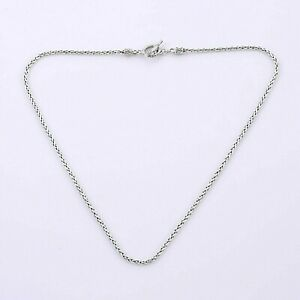 Handmade 2.5 mm Byzantine Bali WHEAT Chain Necklace in 925 Sterling Silver