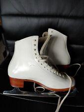 Ladies Competition Ice Skates Riedell 7B w/ John Wilson Coronation Comet Blades
