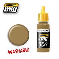 Ammo of Mig Jimenez Acrylic Color WASHABLE DUST (RAL 8000) 17ml #0105