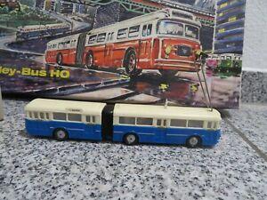 Alter Eheim Trolley Glieder Bus HO 6103 in OVP 50er-60er Jahre