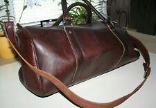 Leder Reisetasche Tasche dunkelbraun 50 x 25 x 25 cm (B x H x T) Weekender